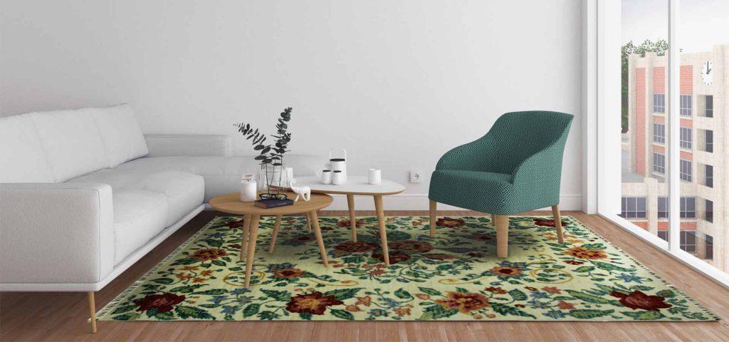 Loribaft, Stuhl, Teppich, Wohnraum, interior, Baummuster, Seide, Designer, indien, Pakistan