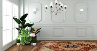 Afghan, Ariana, Teppich, Blume, Kronleuchter, Möbel, interior